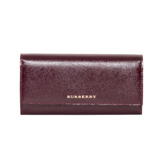 Burberry London Textured Leather Continental Wallet