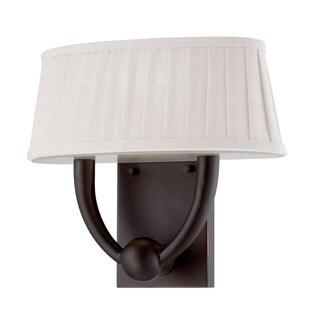 Nuvo Kent White Linen 1-Light LED Vanity Light
