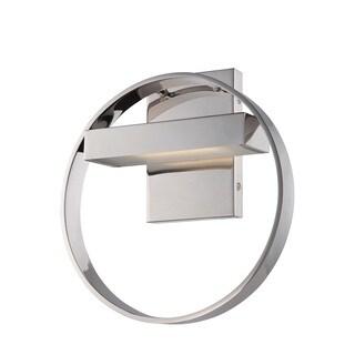 Nuvo Cirque Polished Nickel 1-Light LED Vanity Fixture