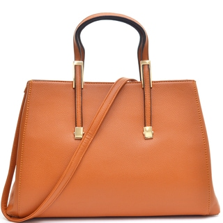 Dasein Faux Buffalo Leather Classic Briefcase with Removable Shoulder Strap