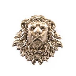 Southern Gents Men's 'Lion Head' Lapel Pin with Deluxe Clutch