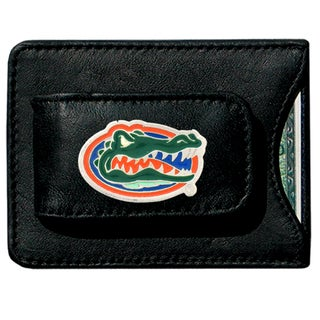 NCAA Florida Gators Leather Money Clip and Cardholder