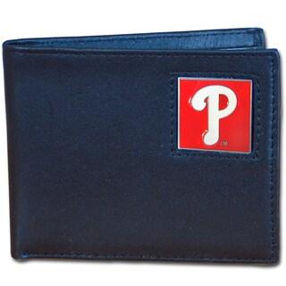 MLB Philadelphia Phillies Leather Bi-fold Wallet