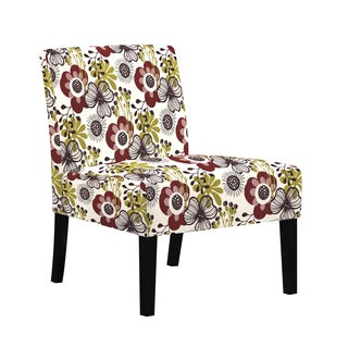 angelo:HOME Bradstreet Cabernet Red Mod Flower Armless Chair