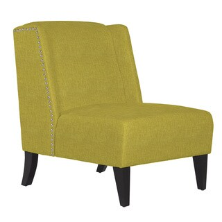 angelo:HOME Barton Green Bamboo Twill Armless Wingback Chair