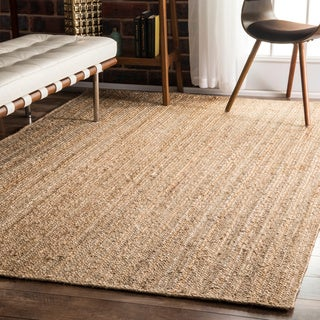 nuLOOM Alexa Eco Natural Fiber Braided Reversible Jute Rug (5' x 8')