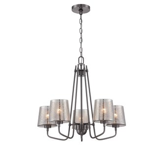 Varaluz Meridian Black Chrome and Mercury Glass 5-light Chandelier
