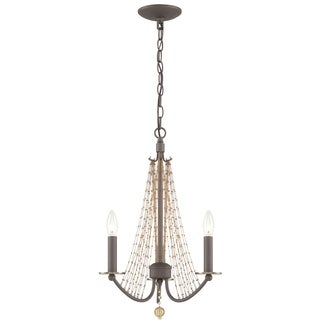 Varaluz Swept Away Rustic Bronze 3-light Chandelier
