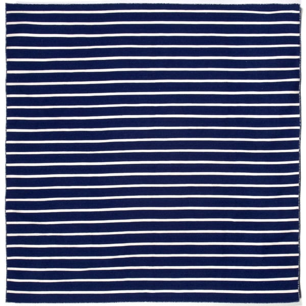 Hand-woven Tailored Navy Outdoor Rug (8' x 8')