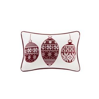 Madison Park Cotton Velvet Ornament Oblong Throw Pillow