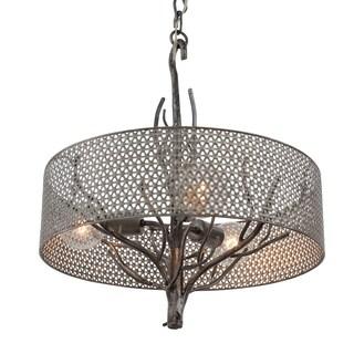 Varaluz Treefold 3-light Steel Pendant