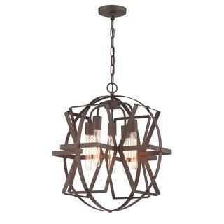 Varaluz Reel Rustic Bronze 5-light Pendant