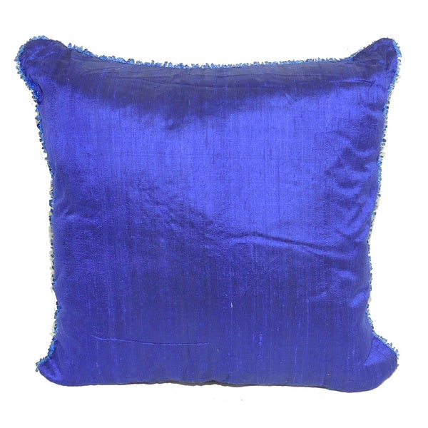 Silk Square Cushion Throw Pillow
