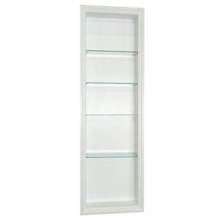 48-inch Recessed In-the-wall Belle Isle Niche in White