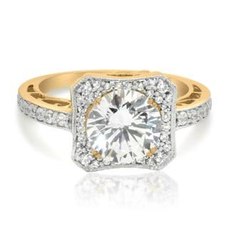 Gioelli 10k Yellow Gold Cubic Zirconia Engagement Ring