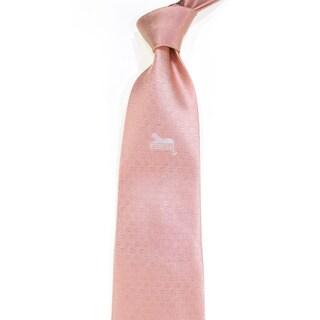 Effy Couture Men's Peach Silk Necktie