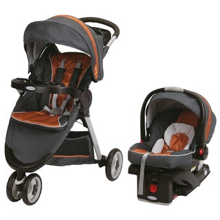 Graco FastAction Fold Sport Click Connect Travel System in Tangerine with $25 Rebate