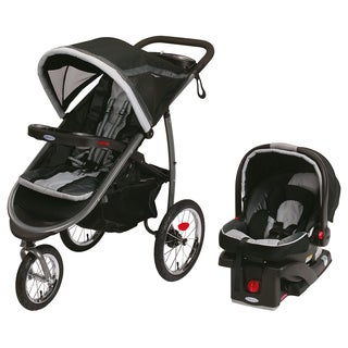 Graco FastAction Fold Jogger Click Connect Travel System in Gotham **with Rebate**