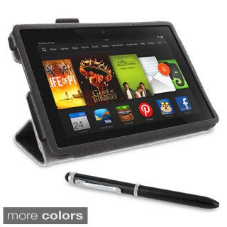 rooCASE Origami Folio Case Cover Stand with Stylus for Amazon Kindle Fire HDX 7
