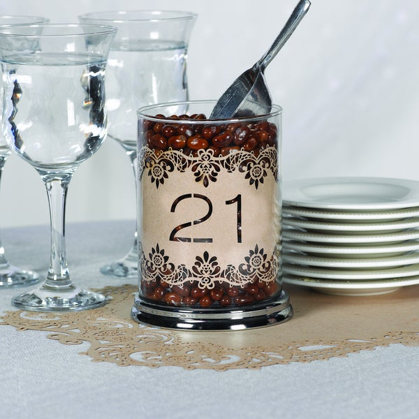 Kraft Laser Cut Table Numbers 21-30