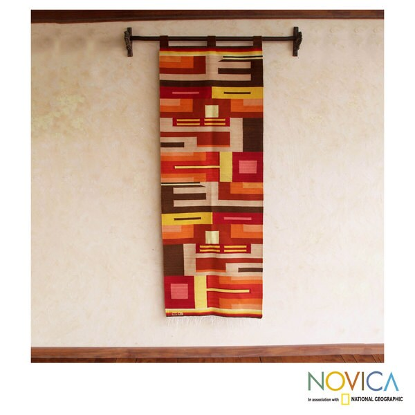 Handcrafted 'Culture of Color' Wool Tapestry (Peru)