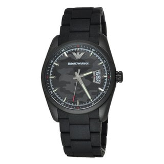 Armani Men's AR6052 Stainless Steel Sport Black Dial Watch