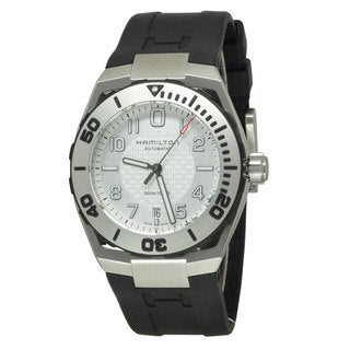 Hamilton Men's H78615355 Khaki Navy SUB Black/ White Watch