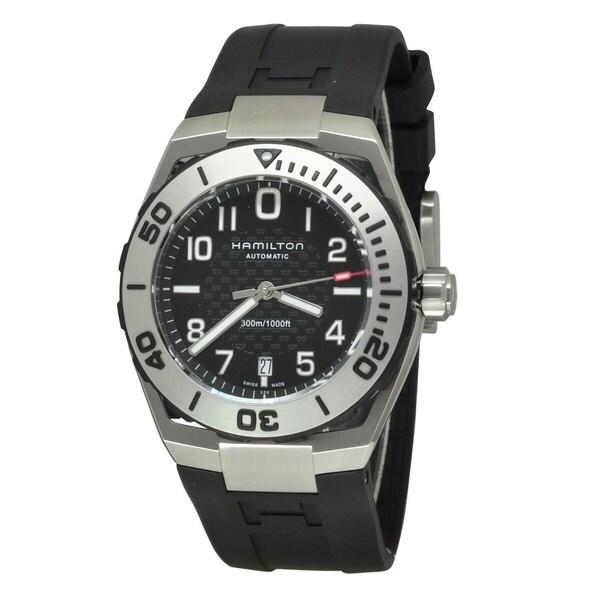 Hamilton Men's H78615335 Khaki Navy SUB Black/ Black Watch