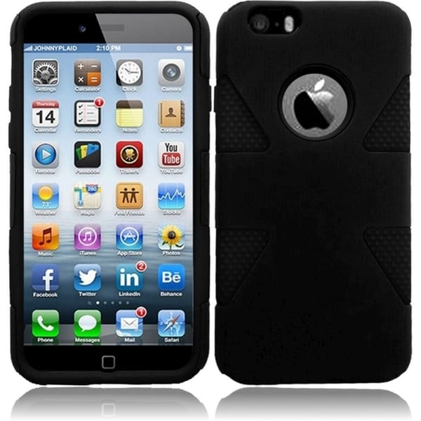 INSTEN High Impact Shock Proof PC Rubber Hybrid Case for Apple iPhone 6 4.7-inch