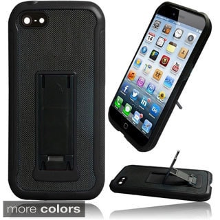 INSTEN Slim Kickstand Hybrid Leather Back TPU Case For Apple iPhone 6 4.7-inch