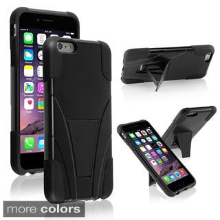 INSTEN Handsfree Kickstand PC Silicone Hybrid Case for Apple iPhone 6 Plus 5.5""