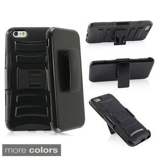 INSTEN Hybrid Side Stand Case Cover w/ Holster For Apple iPhone 6 Plus 5.5-inch