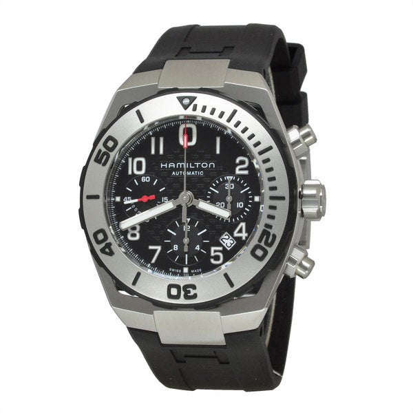 Hamilton Men's H78716333 Khaki Navy SUB Black Watch