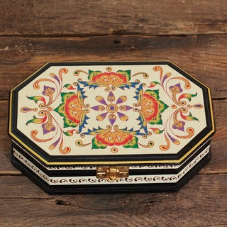 Manufactured Wood 'Rajasthani Mosaic' Decorative Box (India)