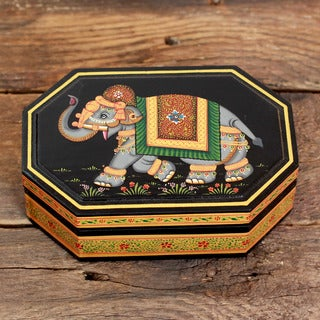 Manufactured Wood 'Nocturnal Parade' Decorative Box (India)