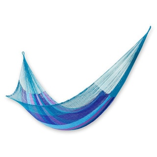 Handcrafted Nylon 'Maya Skies' Hammock (Double) (Mexico)