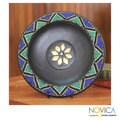 Handcrafted Sese Wood 'The Great Sun' Decorative Plate (Ghana)