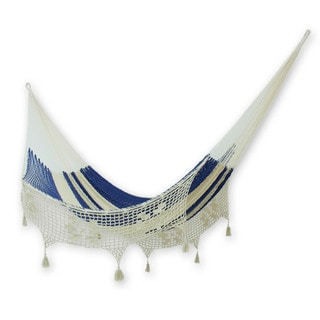 Handcrafted Cotton 'Riviera Romance' Hammock (Double) (Mexico)