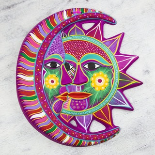 Handcrafted Ceramic 'Magical Eclipse' Wall Adornment (Mexico)