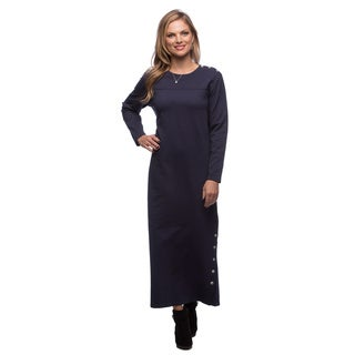 Live A Little Women's Navy Long Sleeve Knit Dress