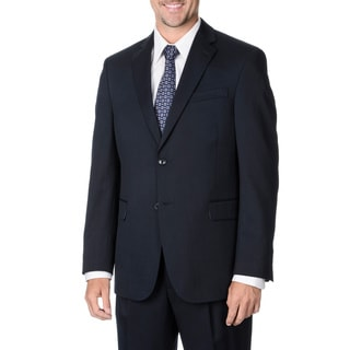 Henry Grethel Men's Navy 2-button Suit Separate Wool Blazer