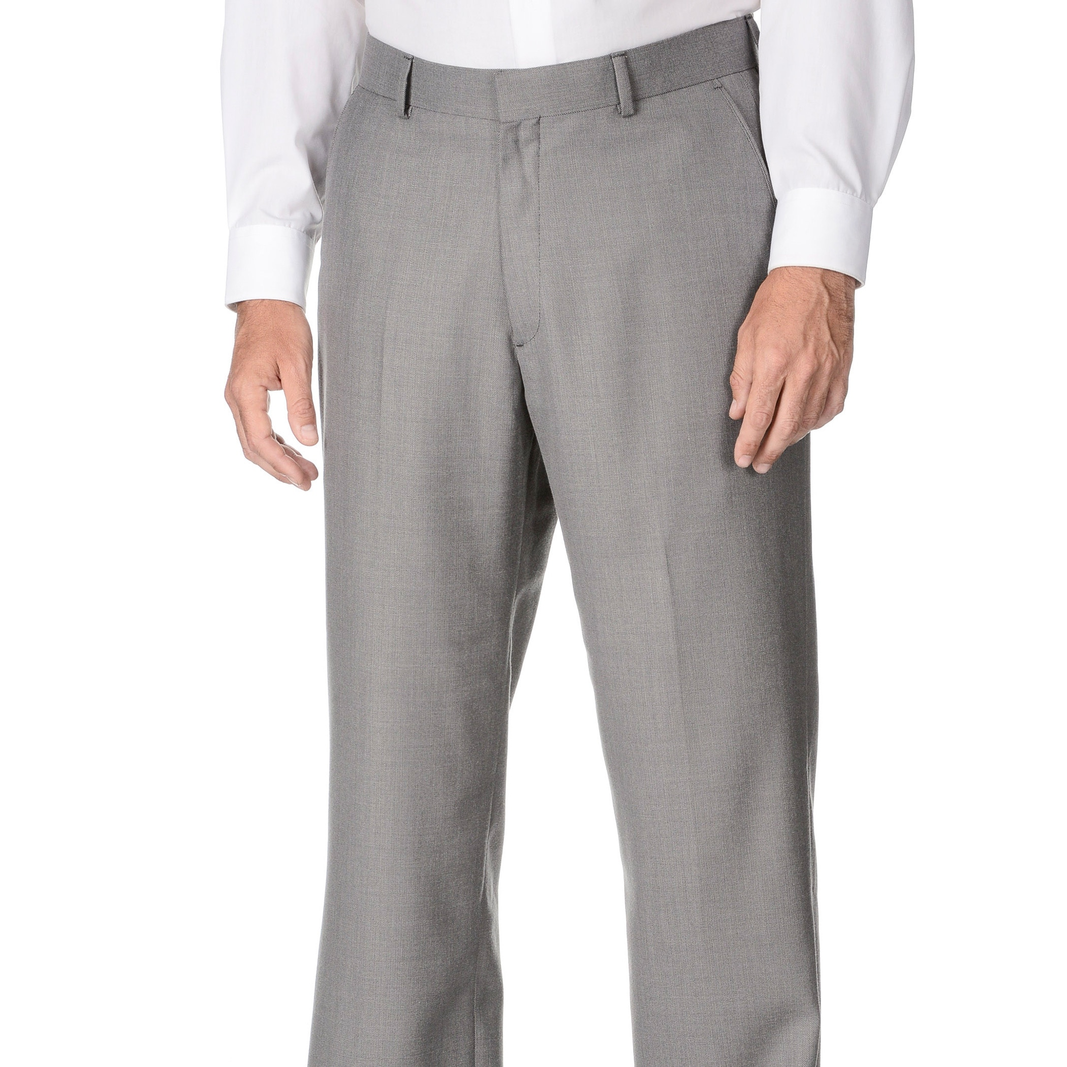 Overstock.com Marco Carelli Men's Grey Flat-front Suit Separate Dress Pant at Sears.com