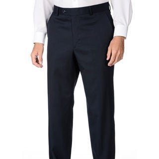 Palm Beach Men's Navy Wool Flat-front Dress Pants