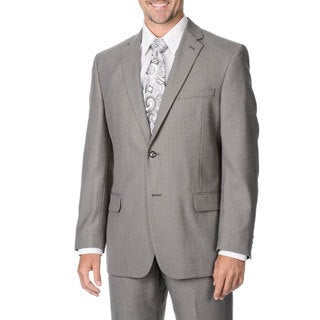 Marco Carelli Men's Big & Tall Grey 2-button Blazer