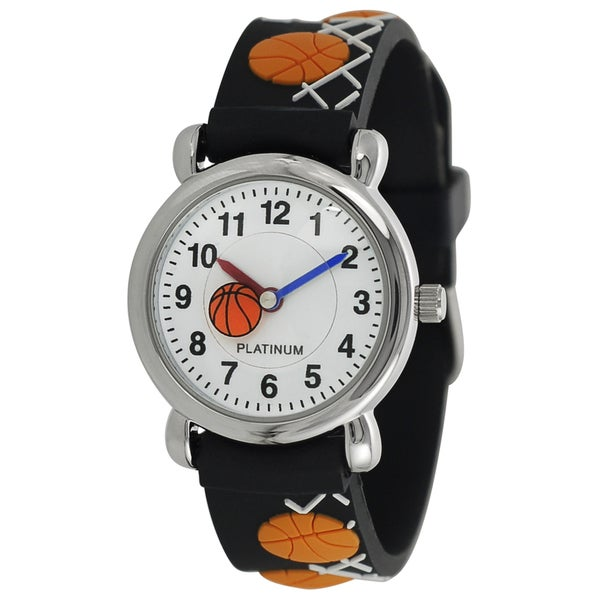 Geneva platinum kids basketball design silicone watch e85d1fb1 2220 48f3 9e6c d812fafa67b1 600