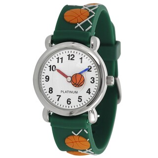 Geneva Platinum Kids' Basketball Design Silicone Watch