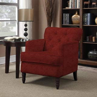 Handy Living Sayre Sangria Red Chenille Armchair