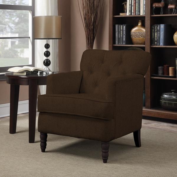 Portfolio Sayre Bark Brown Chenille Arm Chair