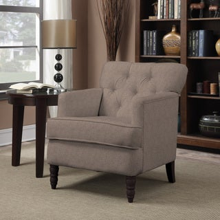 Portfolio Sayre Smoke Grey Chenille Arm Chair