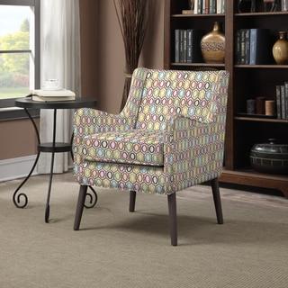 Portfolio Landry Vibrant Pink Geometric Rings Arm Chair
